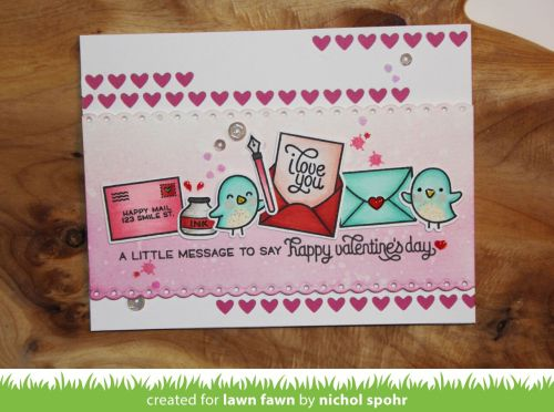 Nichol Spohr LLC:  happy valentine's day | Lawn Fawn December Inspiration Week | Love Letters