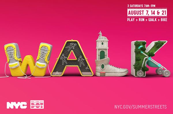 Summer Streets NYC on the Behance Network: Summer Street, Street Nyc, Digital Art, Types Design, Graphics Design, Chris Labrooy, Chrislabrooy, 3D Typography, 3D Types