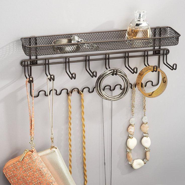 InterDesign Classico organizador de joyas soporte de pared, Bronce: Amazon.es: Hogar