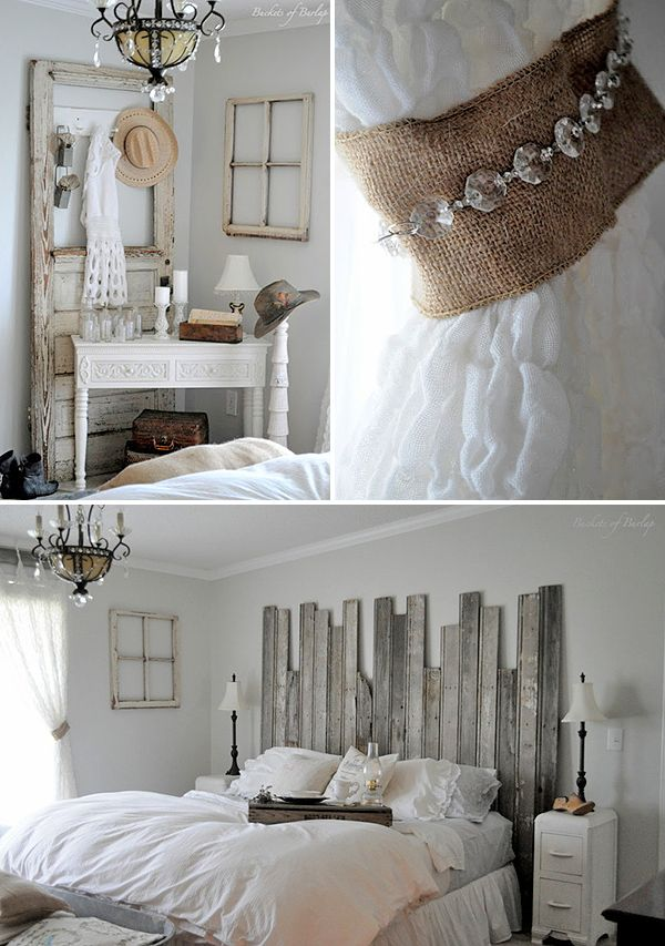 Romantic Bedroom Projects • Try these decorating projects and tutorials to up the romance, like this master bedroom reveal by Becky at 'Buckets of Burlap'! Thx for sharing with us Becky!