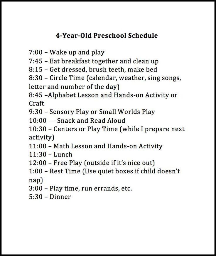 25+ best ideas about Preschool schedule on Pinterest | Home ...