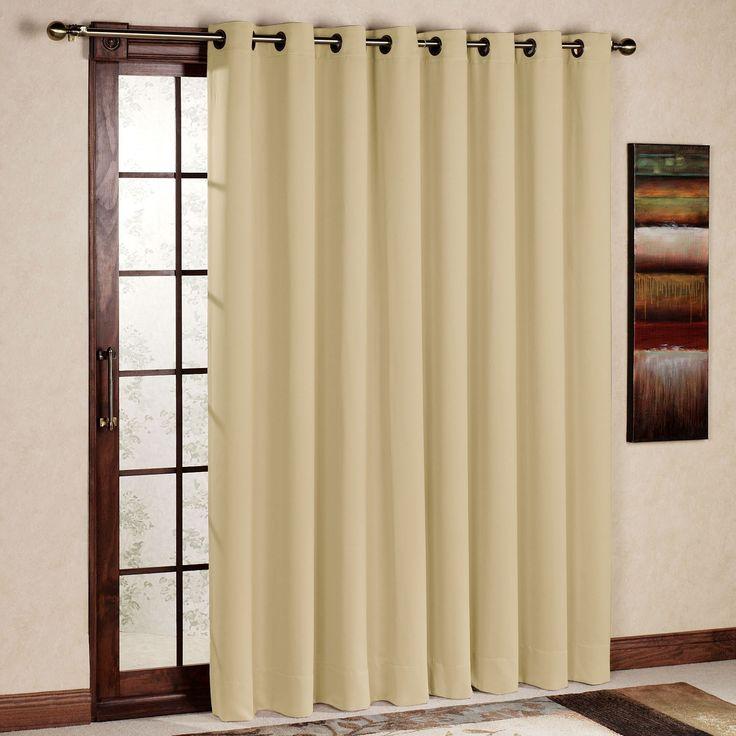 17 best ideas about sliding door curtains on pinterest for Best blackout window treatments