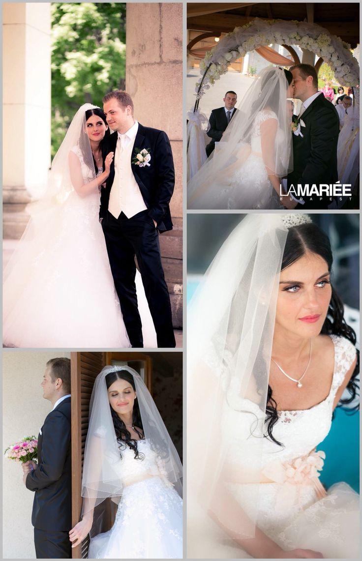 Bia esküvői ruha - Pronovias 2015 - Mónika  menyasszonyunk   http://mobile.lamariee.hu/eskuvoi-ruha/pronovias/bia_2