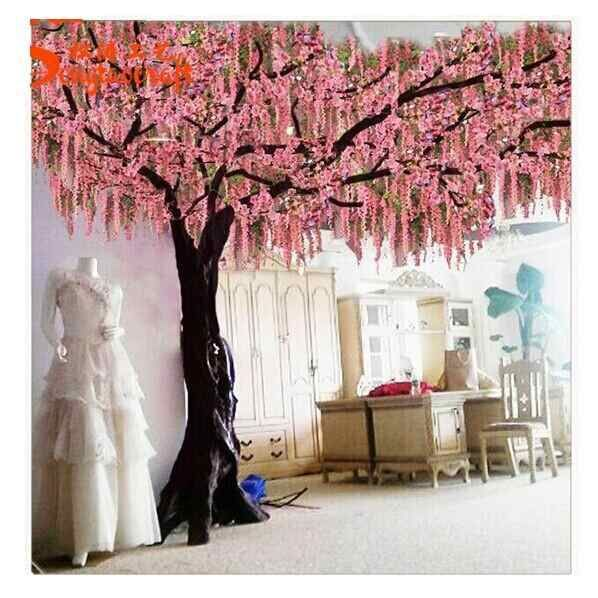 Wholesale Romantic Decoration Large Artificial Blossom Tree Sakura Branches Artificial Cherry In 2021 Artificial Cherry Blossom Tree Cherry Blossom Tree Blossom Trees