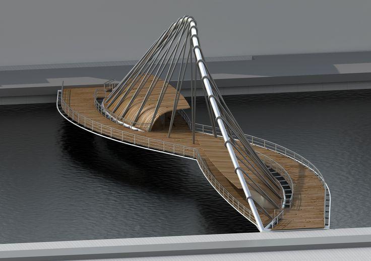 Concurso de ideas para la ejecución de un puente sobre el río Arno en Figline