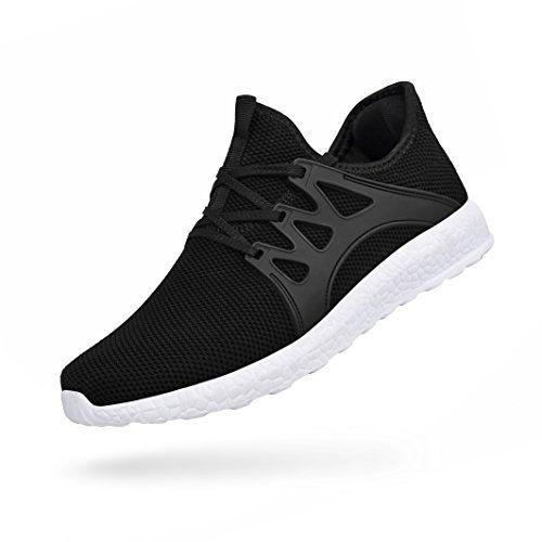 2ac2174080 QANSI Chaussure de Sport Femme Basket Femme Sneaker Chaussures Lacets  Fitness (37 EU Noir-