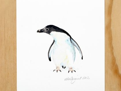 Adelie Penguin Rua - an Aquatic Beastie print