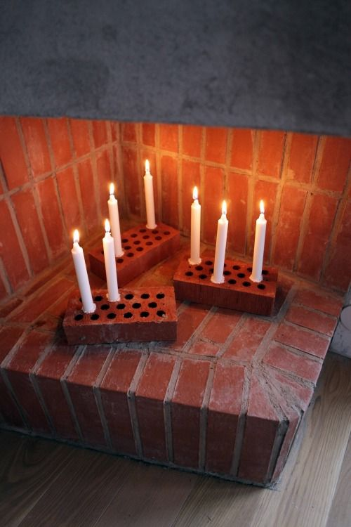 Just can't get enough of taper candles and how versatile they can be ~ Quick DIY brick candle stick (Annalidstrom.com) – Husligheter.se