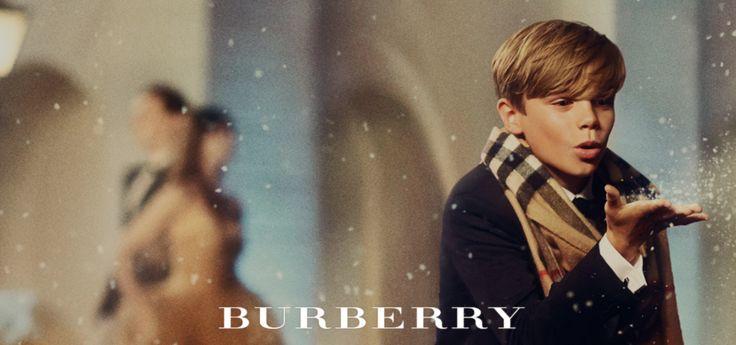 Romeo Beckham, Burberry Christmas 2014 Campaign