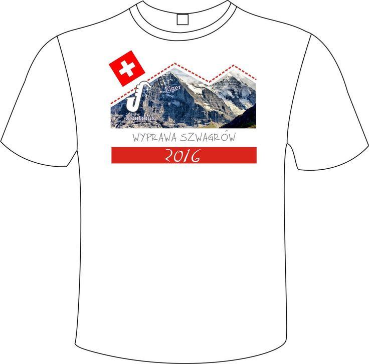 Co się dzieje gdy szwagrowie ruszają na wspólne zdobywanie szczytów? Projektują sobie koszulkę! Świetny pomysł!