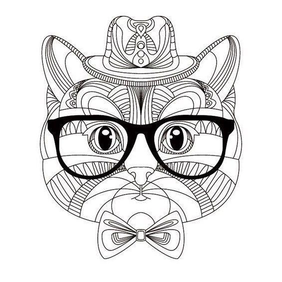 Mandalas de Gatos para Colorear 🥇 Fáciles y Coloreados ...
