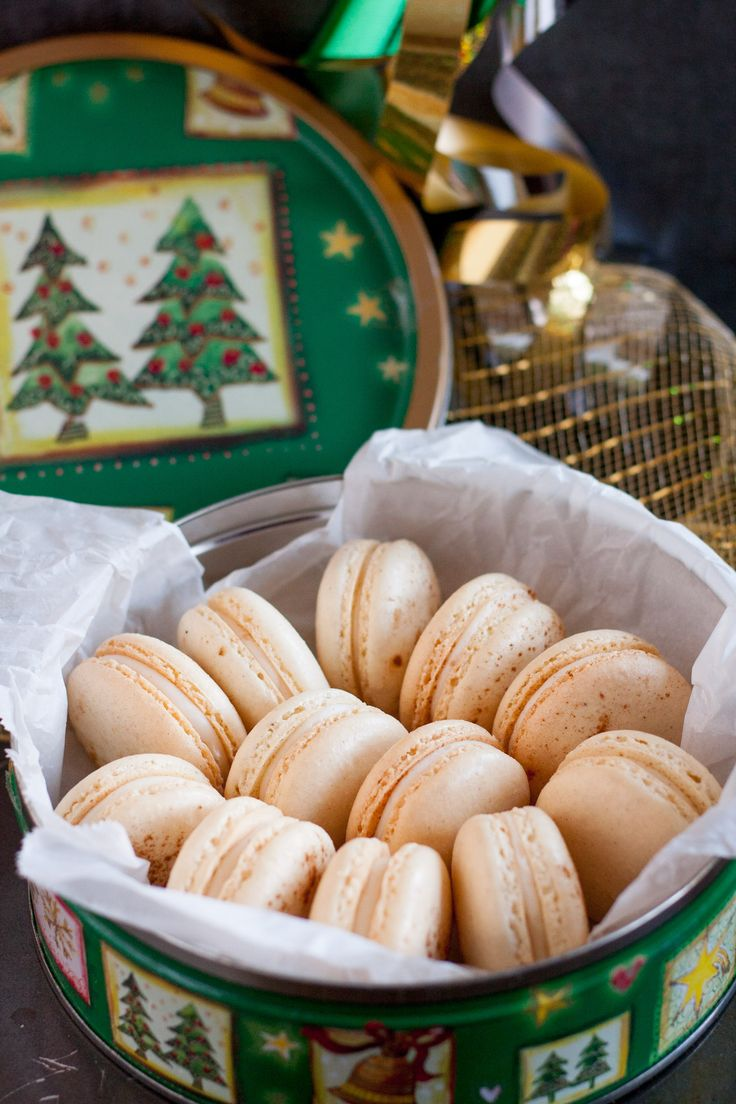 Eggnog macarons are a different way to enjoy a classic holiday drink. They make a great gift or addition to any Christmas celebration dessert table!