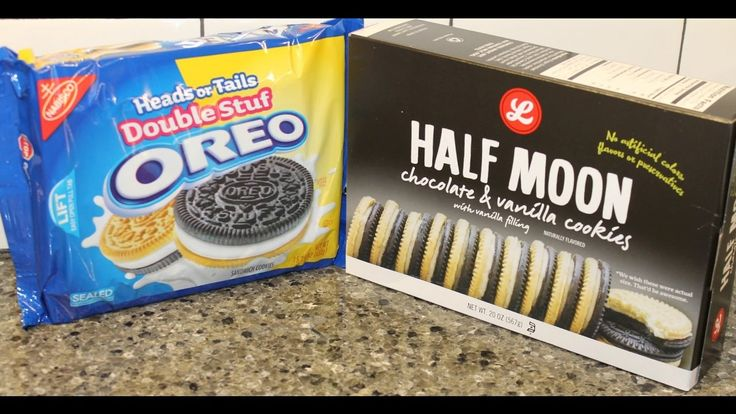Nabisco Oreo vs Lucky's Half Moon: Golden & Chocolate Sandwich Cookie Bl...