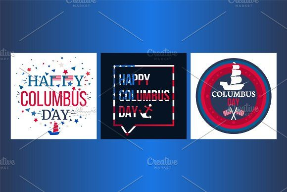 Happy Columbus Day Banners Happy Columbus Day Banner Happy