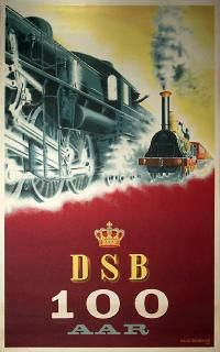 DSB - 100 years. Design by Aage Rasmussen