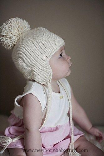 Baby Knitting Patterns Free knitting pattern for Baby Earflap Hat knit seamlessly w...