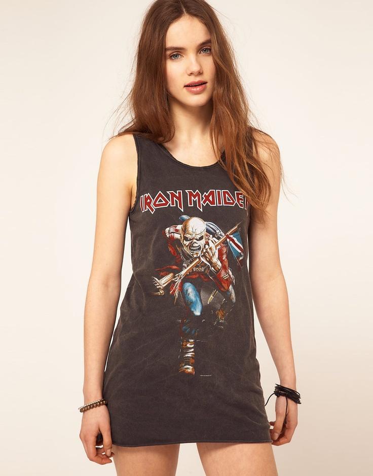 Amplified Iron Maiden Tank Dress: Style, Iron Maiden, Tanks Dresses, Tank Dress, Fashion Inspiration, Vest Dresses, Apparel, Amplifi Irons, Irons Maiden Tanks