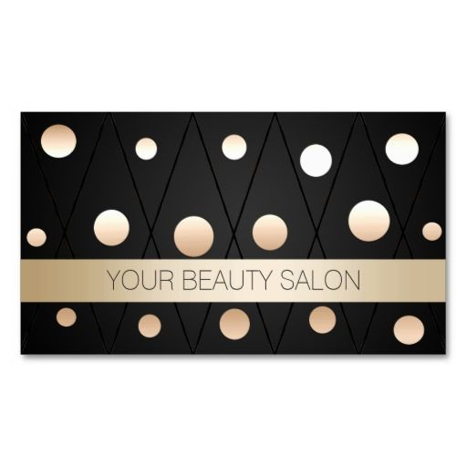 118 best business cards stickers and such images on pinterest chic black gold dots makeup artist business card reheart Choice Image