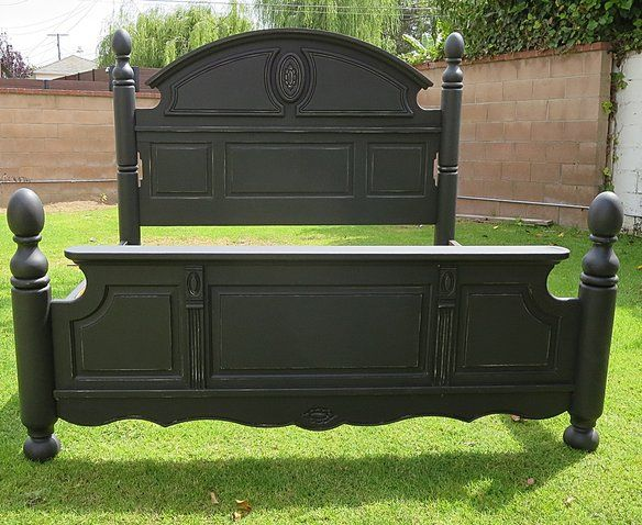 shabby chic eastern eastern bed frame black color in westchester los angeles ca - Bed Frames Los Angeles