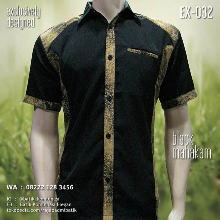 Black Mahakam Ex 032 Seragam Batik Kemeja
