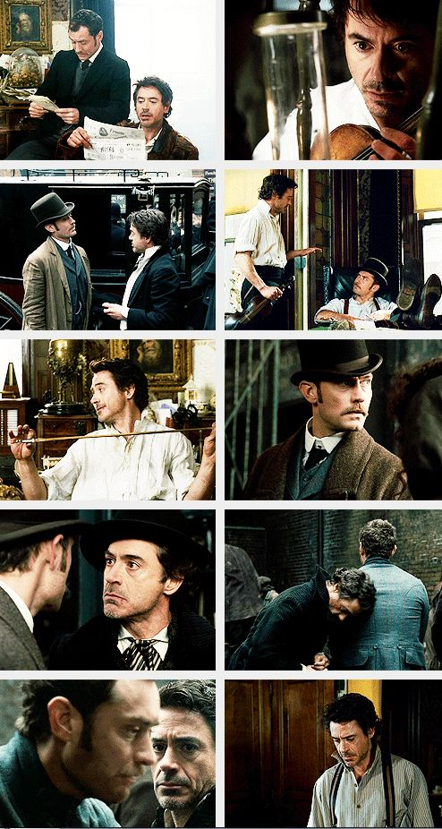 """You"" means ""us."" (Robert Downey Jr. and Jude Law, ""Sherlock Holmes"")"