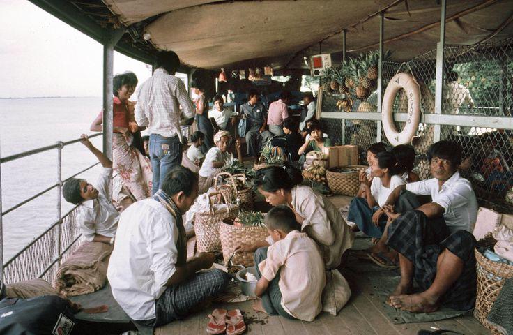 Schiffsfahrt auf dem Irrawaddy, Burma 1985