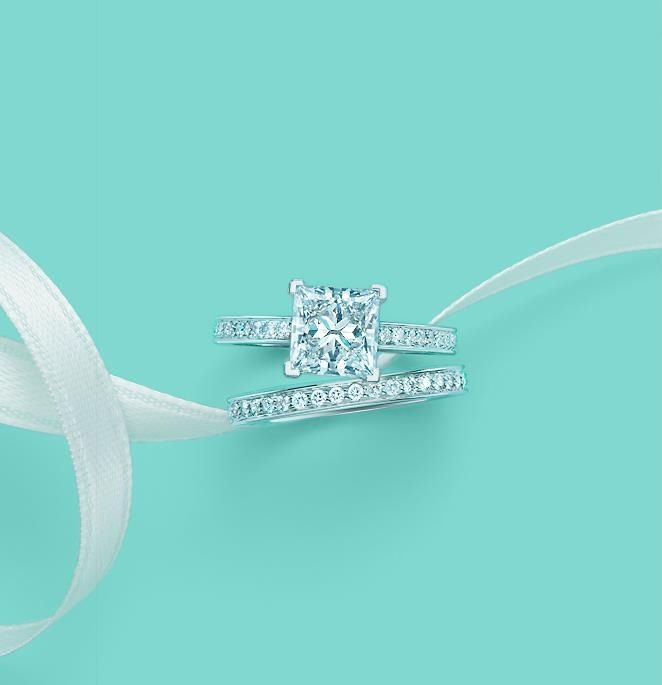 Tiffany's wedding band and engagement ring. Oh my god pleaseeeee <3 so amazing