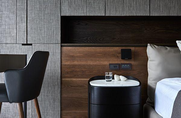 Masculine bedroom details