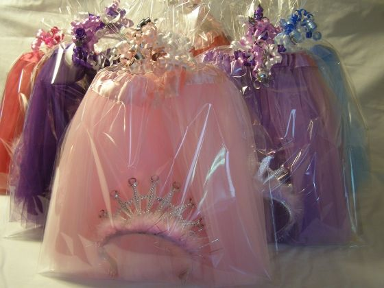 Princess Tutus and Tiaras are beautifully wrapped together and make the perfect royal pair of Princess Birthday Party Favors.