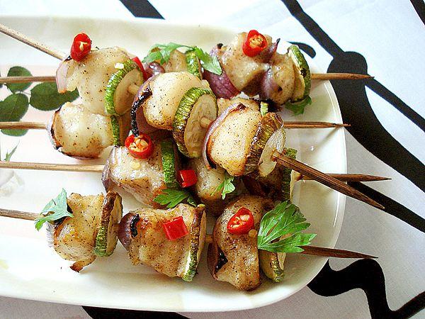 Fish Kebab.: Low Calories, Fish Kebabs, Calories Recipes