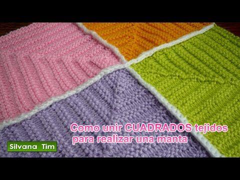 Manta Tejida con Cuadros a Dos Agujas / Tutorial | Crochet y Dos agujas - Patrones de tejido