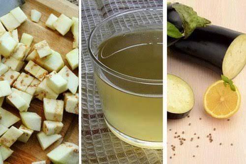 Auberginenwasser mit Zitrone hilft nicht nur beim Abnehmen, sondern fördert auch die Allgemeingesundheit.