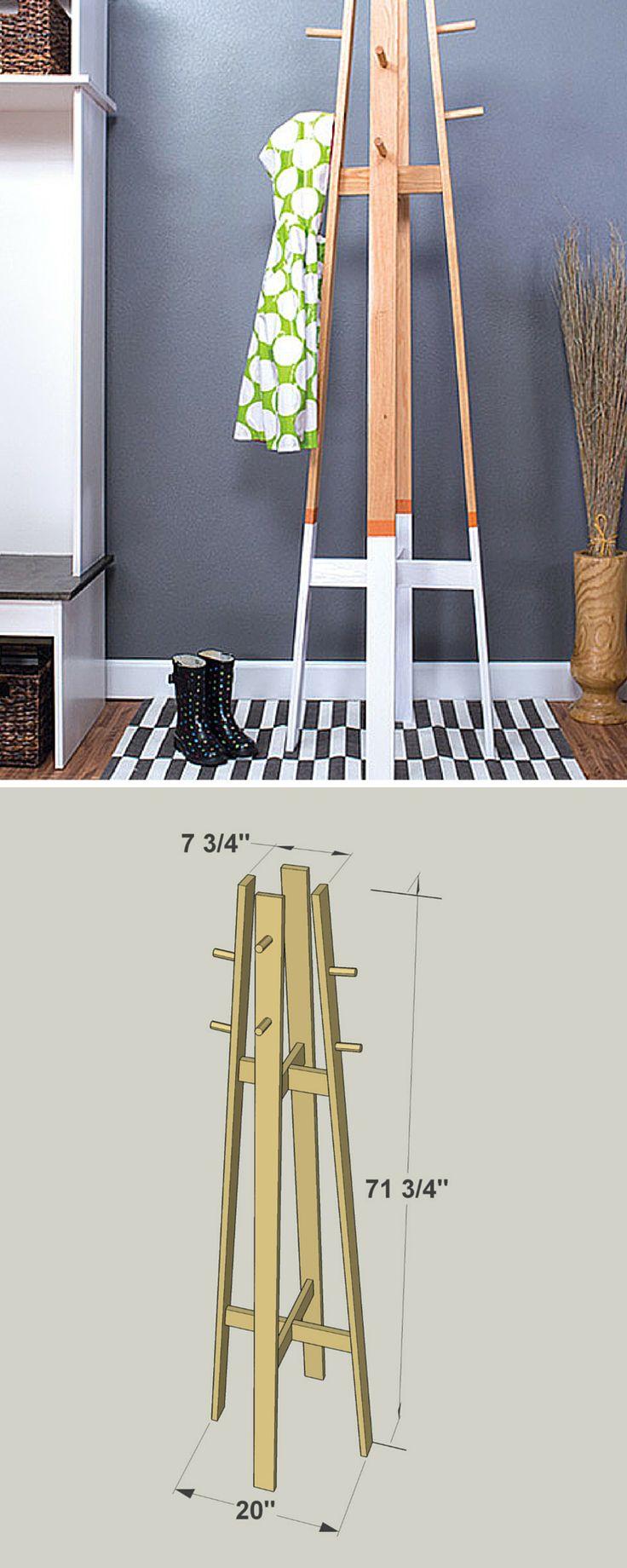 Best 25 Hanging Coat Rack Ideas On Pinterest Entryway