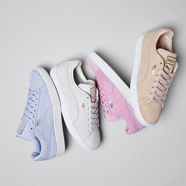 Available Now! @puma Suede Classic Exotic in 4 amazing colours! ✌️#Shop straight from our bio. #newin #puma #ownit2017 #pastels