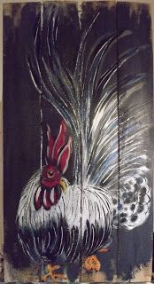 A Pretty Talent Blog: Chicken Duo: Rooster 2 In Acrylics
