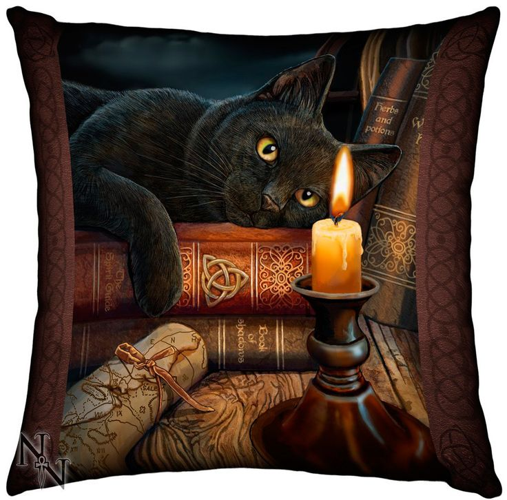 Cojín Witching Hour #gato #negro #decoracion #gotico #gothic #magia #magic #lisa #parker #xtremonline