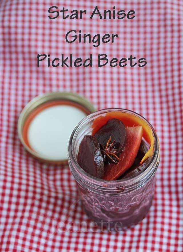 Star Anise Ginger Pickled Beets #SummerFest #recipe