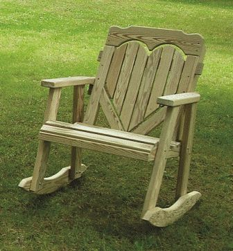 I love this outdoor rocking chair with the heart back.