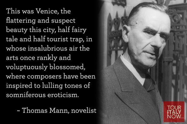 Italy quotes Thomas Mann