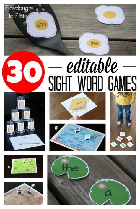 30 Editable Sight Word Games. Type your word list once and they automatically load into all 30 games. Such a huge time and money saver!!