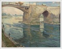 Einar Mogens Wegener (Danish, 1882-1931) «Le Pont sur Loire» 1924