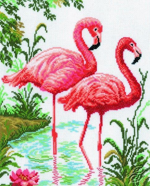 Flamingo - Cross Stitch Kits by RTO - M106