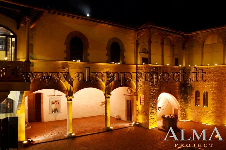 ALMA Project @ Castello Il Palagio - Amber Lighting - LED Bars - Courtyard 5