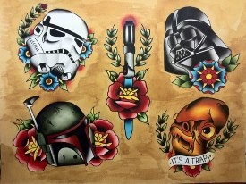 Star Wars Tattoo flash :D #tattoo #tattoos #ink #inked