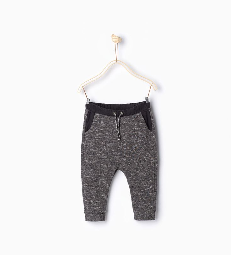Trousers with contrasting waist-Trousers-Baby boy-Baby | 3 months - 3 years-KIDS | ZARA Hungary