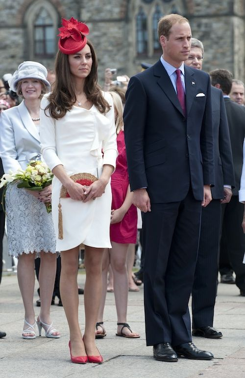 Kate & William Reis White Dress Tour Of Canada 1 July 2011