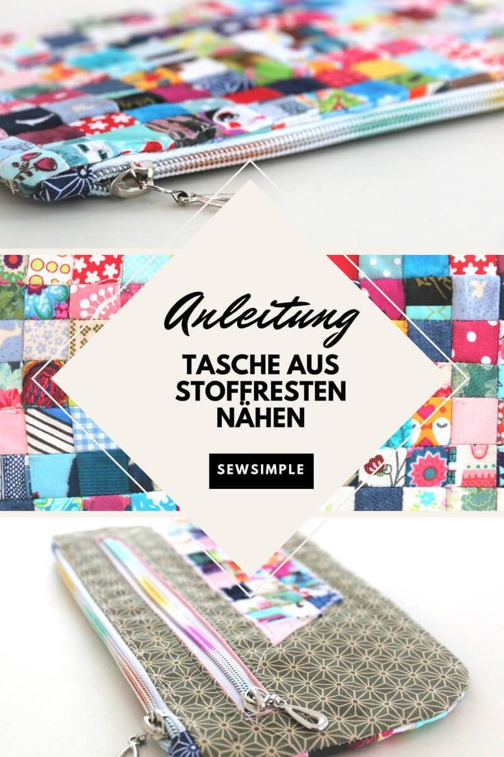 No fabric leftovers are too small for this sewing project. The result: a colorful …   – Nähen