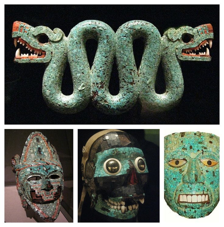 The serpent played a very important role in Aztec religion. It is associated with several gods such as Quetzalcoatl (Feathered Serpent), Xiuhcoatl (Fire Serpent), Mixcoatl (Cloud Serpent) or Coatlicue (She of the Serpent Skirt), the mother of the Aztec god Huitzilopochtli. The word for serpent in Nahuatl, the language spoken by the Aztecs, is coatl.