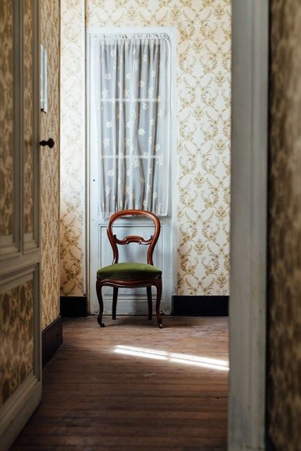 Hallway In Vintage Wallpaper. Hallway DesignsHallway IdeasRoom ...