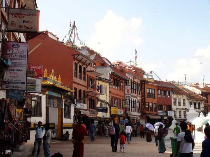 Cool surrounding at Boudhanath Stupa